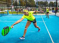 Netherlands, September 6,  2020, Amsterdam, Padel Dam, NK Padel, National Padel Championships, Womans doubles:  Michaella Krajicek (NED) and Steffie Weterings (NED) (L)<br /> Photo: Henk Koster/tennisimages.com