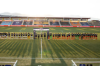 HERRIMAN, UT - JULY 17: Utah Royals FC and Houston Dash Pre-game Ceremony during a game between Utah Royals FC and Houston Dash at Zions Bank Stadium on July 17, 2020 in Herriman, Utah.
