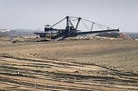 - east Germany, mine of lignite coal (brown coal) near Zeitz<br /> <br /> - Germania orientale, miniera di carbone lignite nei pressi di Zeitz