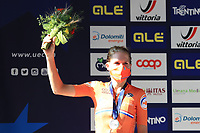 2021 UEC Road Cycling European, Trento, Trentino–Alto Adige, Italy on 9th; Men Elite Individual Time Trial, Ellen Van Dijk (Nethertlands) 2nd place finisher on podium