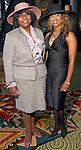 Marianne Young-Walker and Jonita Wallace-Reynolds at the Ivy Foundation luncheon and fashion show at the Hilton Americas Hotel downtown Saturday March 01,2008.(Dave Rossman/For the Chronicle)