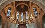 Nederland, Den Haag, 12-04-2006. Interieur van de hal van Vredespaleis, 60 jarig bestaan van het gerechtshof..© foto Michael Kooren/Hollandse Hoogte.