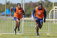BRADENTON, FL - JANUARY 22: Andres Perea, Daryl Dike Field Activation during a training session at IMG Academy on January 22, 2021 in Bradenton, Florida.