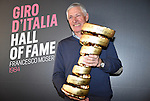 In a ceremony at Milan's Upcycle Bike Café this afternoon, Francesco Moser was inducted into the Giro d'Italia Hall of Fame, Milan, Italy. 20th March 2015. <br /> Photo: ANSA/Daniel Dal Zennaro/www.newsfile.ie