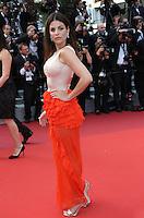 JULIA RESTOIN ROITFELD<br /> MONTEE DES MARCHES DU FILM LA FILLE INCONNUE (THE UNKNOWN GIRL)<br /> RED CARPET OF THE MOVIE LA FILLE INCONNUE (THE UNKNOWN GIRL)<br /> 69 EME FESTIVAL DE CANNES
