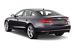 Rear three quarter view of a 2009 - 2011 Audi A5 Ambition Luxe Sportback 5-Door Hatchback.