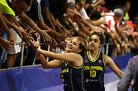 BARRANQUILLA - COLOMBIA, 24-07-2018: Colombia ganó la medalla de oro ante Cuba durante partido de final en la modalidad de Baloncesto femenino como parte de los Juegos Centroamericanos y del Caribe Barranquilla 2018. /  Colomba won the gold medal facing Cuba during final match of women's Basketball as a part of the Central American and Caribbean Sports Games Barranquilla 2018. Photo: VizzorImage / Cont