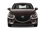 Car photography straight front view of a 2015 Mazda Mazda2 Pulse Edition 5 Door Hatchback 2WD Front View