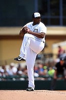 Detroit Tigers pitcher Melvin Mercedes (44) during a Spring Training game against the Washington Nationals on March 22, 2015 at Joker Marchant Stadium in Lakeland, Florida.  The game ended in a 7-7 tie.  (Mike Janes/Four Seam Images)