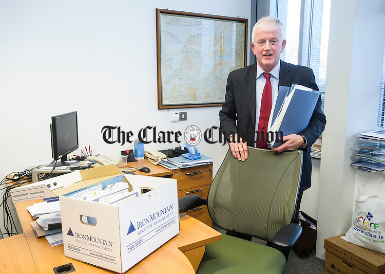 Michael Mc Namara, Senior Executive office with Clare County Council, who is retiring after 41 years service. Photograph by John Kelly.