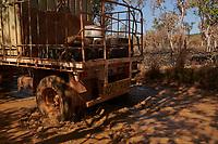 The vehicle drives through a muddy creek on the Gibb River Road, as Nick and Joanna Atkins' road train makes its way from Kununurra to Kalumburu.