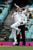 7th January 2021; Sydney Cricket Ground, Sydney, New South Wales, Australia; International Test Cricket, Third Test Day One, Australia versus India; Mohammed Siraj of India bowling