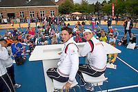 15-09-12, Netherlands, Amsterdam, Tennis, Daviscup Netherlands-Suisse, Junior press conference with Thiemo de Bakker and Igor Sijsling(L)