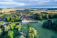 France, Indre, Berry, Bouges le Chateau, Chateau de Bouges Park and Gardens, general view (aerial view) // France, Indre (36), Berry, Bouges-le-Château, parc et jardin du château de Bouges, vue générale (vue aérienne)