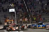 NASCAR Camping World Truck Series<br /> winstaronlinegaming.com 400<br /> Texas Motor Speedway, Ft. Worth, TX USA<br /> Friday 9 June 2017<br /> Christopher Bell, JBL Toyota Tundra, Chase Briscoe, Cooper Standard Ford F150<br /> World Copyright: John K Harrelson<br /> LAT Images<br /> ref: Digital Image 17TEX2jh_02447