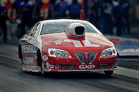 Oct. 31, 2008; Las Vegas, NV, USA: NHRA pro stock driver Mike Edwards launches during qualifying for the Las Vegas Nationals at The Strip in Las Vegas. Mandatory Credit: Mark J. Rebilas-