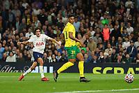 26th August 2021; Tottenham Hotspur Stadium, London, England; Europa Conference League football, Tottenham Hotspur versus Paços de Ferreira; Bryan Gil of Tottenham Hotspur sees his shot go wide