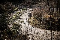 Giulio Ciccone (ITA/Trek - Segafredo) launching an attack up the final climb towards the finish up <br /> Stage 4 from Terni to Prati di Tivo (148km)<br /> <br /> 56th Tirreno-Adriatico 2021 (2.UWT) <br /> <br /> ©kramon