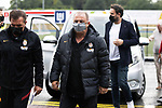 Galatasaray Head Coach Fatih Terim (centre) arrives at McDiarmid Park ahead of tonight's training session before facing St Johnstone in tomorrow nights Europa League qualifier second leg....11.08.21<br /><br />Picture by Graeme Hart.<br />Copyright Perthshire Picture Agency<br />Tel: 01738 623350  Mobile: 07990 594431