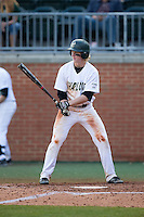 Brett Netzer (9) of the Charlotte 49ers at bat against the Florida Atlantic Owls at Hayes Stadium on March 14, 2015 in Charlotte, North Carolina.  The Owls defeated the 49ers 8-3 in game one of a double header.  (Brian Westerholt/Four Seam Images)
