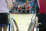 FEBRUARY 26, 2016, TORONTO, ON; Chantal Petitclerc, Chef de Mission for the Rio 2016 Canadian Paralympic Team, vists TPASC to inspire local Rio hopefuls including wheelchair basketball players Melanie Hawtin and Bo Hedges. Photo: Dan Galbraith / Canadian Paralympic Committee