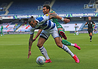 Geoff Cameron of Queens Park Rangers tackles Jacob Murphy of Sheffield Wednesday during Queens Park Rangers vs Sheffield Wednesday, Sky Bet EFL Championship Football at Loftus Road Stadium on 11th July 2020