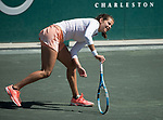 April 5,2018:  Julia Goerges (GER) defeated Naomi Osaka (JPN) 7-6, 6-3, at the Volvo Car Open being played at Family Circle Tennis Center in Charleston, South Carolina.  ©Leslie Billman/Tennisclix/csm