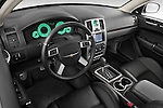 High angle dashboard view of a  2009 Chrysler 300 CRD