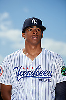 New York Yankees pitcher Luis Medina poses for a photo before a Minor League Extended Spring Training game on May 2, 2018 at Yankees Minor League Complex in Tampa, Florida.  (Mike Janes/Four Seam Images)