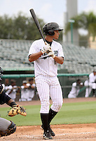 GCL Marlins outfielder Jhiomar Veras #17 during game three of the GCL Championship Series against the GCL Yankees at Roger Dean Stadium on August 31, 2011 in Jupiter, Florida.  GCL Yankees defeated the GCL Marlins 3-1 to capture the league championship.  (Stacy Grant/Four Seam Images)