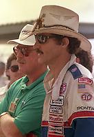 Richard Petty cowboy hat Pepsi 400 at Daytona International Speedway in Daytona beach, FL on July 1, 1989. (Photo by Brian Cleary/www.bcpix.com)