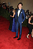 Eddie Redmayne attends  the Metropolitan Museum of Art Costume Institute Beneift celebrating the opening of  PUNK: Chaos .to Couture on May 6, 2013 in New York City.