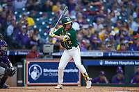 Nick Loftin (2) of the Baylor Bears at bat against the LSU Tigers in game five of the 2020 Shriners Hospitals for Children College Classic at Minute Maid Park on February 28, 2020 in Houston, Texas. The Bears defeated the Tigers 6-4. (Brian Westerholt/Four Seam Images)