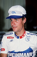 Montreal (Qc) CANADA - file photo , Steve Bauer. (born June 12, 1959 in St. Catharines, Ontario) is a former professional road bicycle racer from Canada. He is an Olympic medallist
