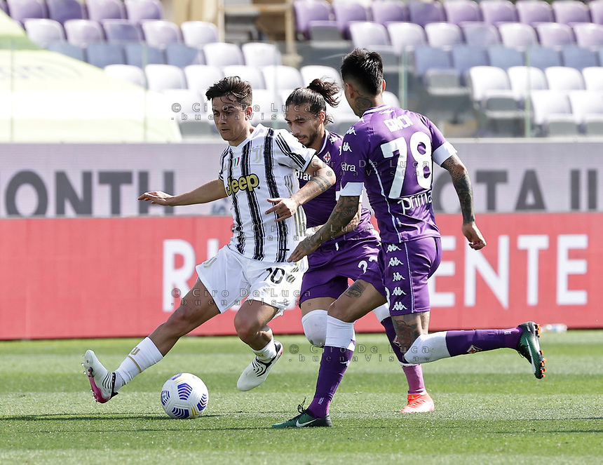 Paulo Dyabala of Juventus  during the  italian serie a soccer match,Fiorentina - Juventus at  theStadio Franchi in  Florence Italy ,