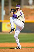 Western Carolina Catamounts relief pitcher Preston Hatcher (30) in action against the Davidson Wildcats at Wilson Field on March 10, 2013 in Davidson, North Carolina.  The Catamounts defeated the Wildcats 5-2.  (Brian Westerholt/Four Seam Images)