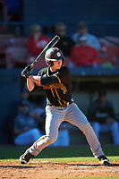 Bethune-Cookman Wildcats third baseman Brandon Wilkes (3) at bat during a game against the Wisconsin-Milwaukee Panthers on February 26, 2016 at Chain of Lakes Stadium in Winter Haven, Florida.  Wisconsin-Milwaukee defeated Bethune-Cookman 11-0.  (Mike Janes/Four Seam Images)
