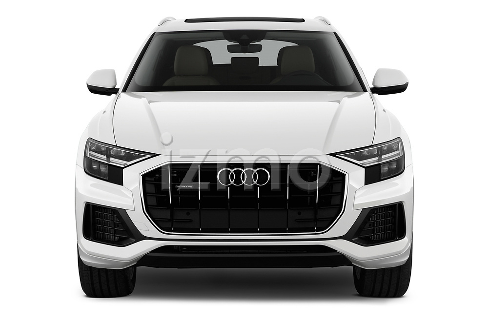 Car photography straight front view of a 2019 Audi q8 Premium Plus 5 Door SUV