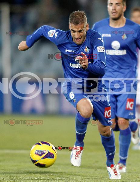 Getafe's Alberto Lopo during La Liga match.November 18,2012. (ALTERPHOTOS/Acero) NortePhoto