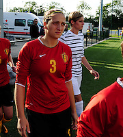 Vriendschappelijke interland vrouwenvoetbal : Belgium A - France A te Nieuwpoort ;..Maud Cautereels..foto DAVID CATRY / Vrouwenteam.be