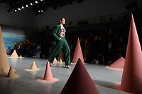 Models on the catwalk<br /> at the Robert Einer London Fashion Week SS18 catwalk show, London<br /> <br /> ©Ash Knotek  D3431  18/09/2018