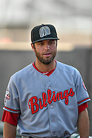 Jake Johnson (52) of the Billings Mustangs before the game against the Orem Owlz in Pioneer League action at Home of the Owlz on July 25, 2016 in Orem, Utah. Orem defeated Billings 6-5. (Stephen Smith/Four Seam Images)
