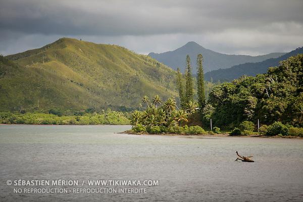 Embouchure de la Tchamba, région de Ponérihouen, province Nord, Nouvelle-Calédonie