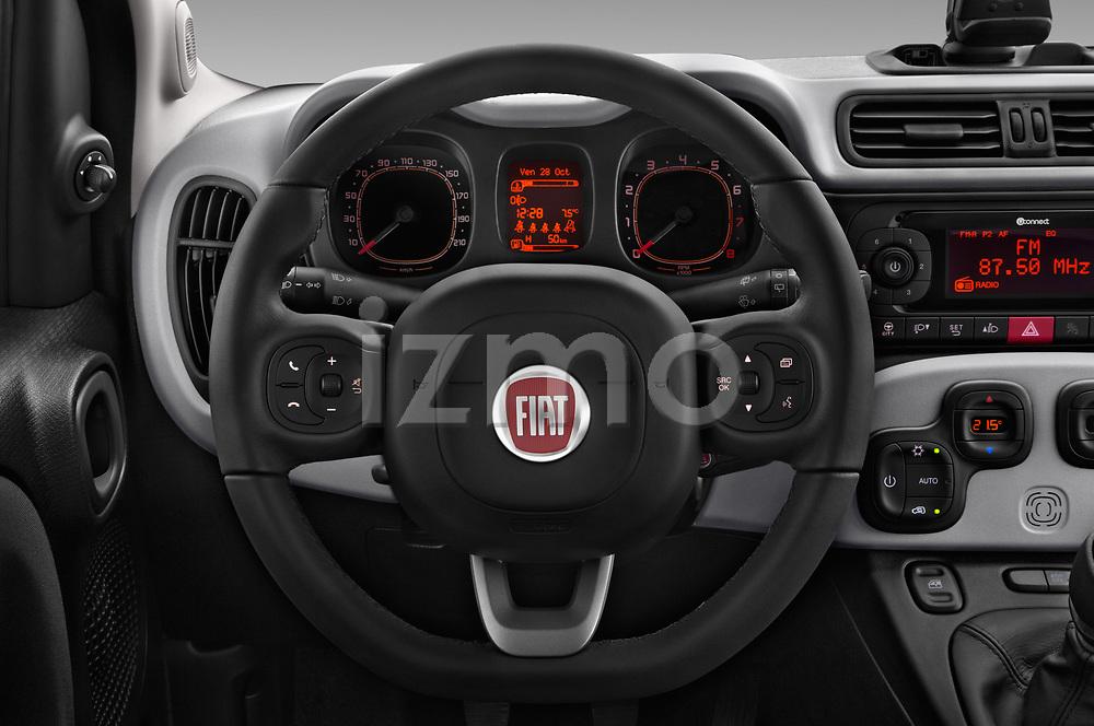 Car pictures of steering wheel view of a 2017 Fiat Panda Lounge 5 Door Hatchback Steering Wheel