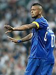 Juventus' Arturo Vidal during Champions League 2014/2015 Semi-finals 2nd leg match.May 13,2015. (ALTERPHOTOS/Acero)