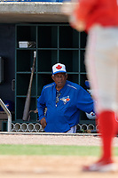 Toronto Blue Jays coach Sandy Alomar Sr during an Instructional League game against the Philadelphia Phillies on September 23, 2019 at Spectrum Field in Clearwater, Florida.  (Mike Janes/Four Seam Images)