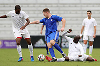 Orlando, Florida - Saturday January 13, 2018: Andre Morrison, Mac Steeves, and Mamadou Guirassy. Match Day 1 of the 2018 adidas MLS Player Combine was held Orlando City Stadium.