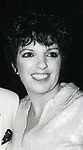 """Liza Minnelli after seeing """"Yves Montand at the Met"""" on September 5, 1982 at The Met in New York City."""