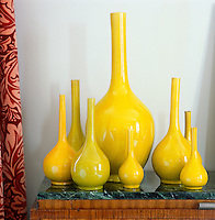 A collection of Chinese-imperial yellow glazed vases dating from 1800 to 1900