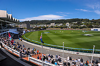 A general view during day one of the International Test Cricket match between the New Zealand Black Caps and West Indies at the Basin Reserve in Wellington, New Zealand on Friday, 11 December 2020. Photo: Dave Lintott / lintottphoto.co.nz